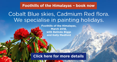 Painting in the Himalayas in 2018 click to see more
